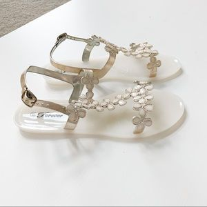 Forever Fairy-22 White Jelly Sandal